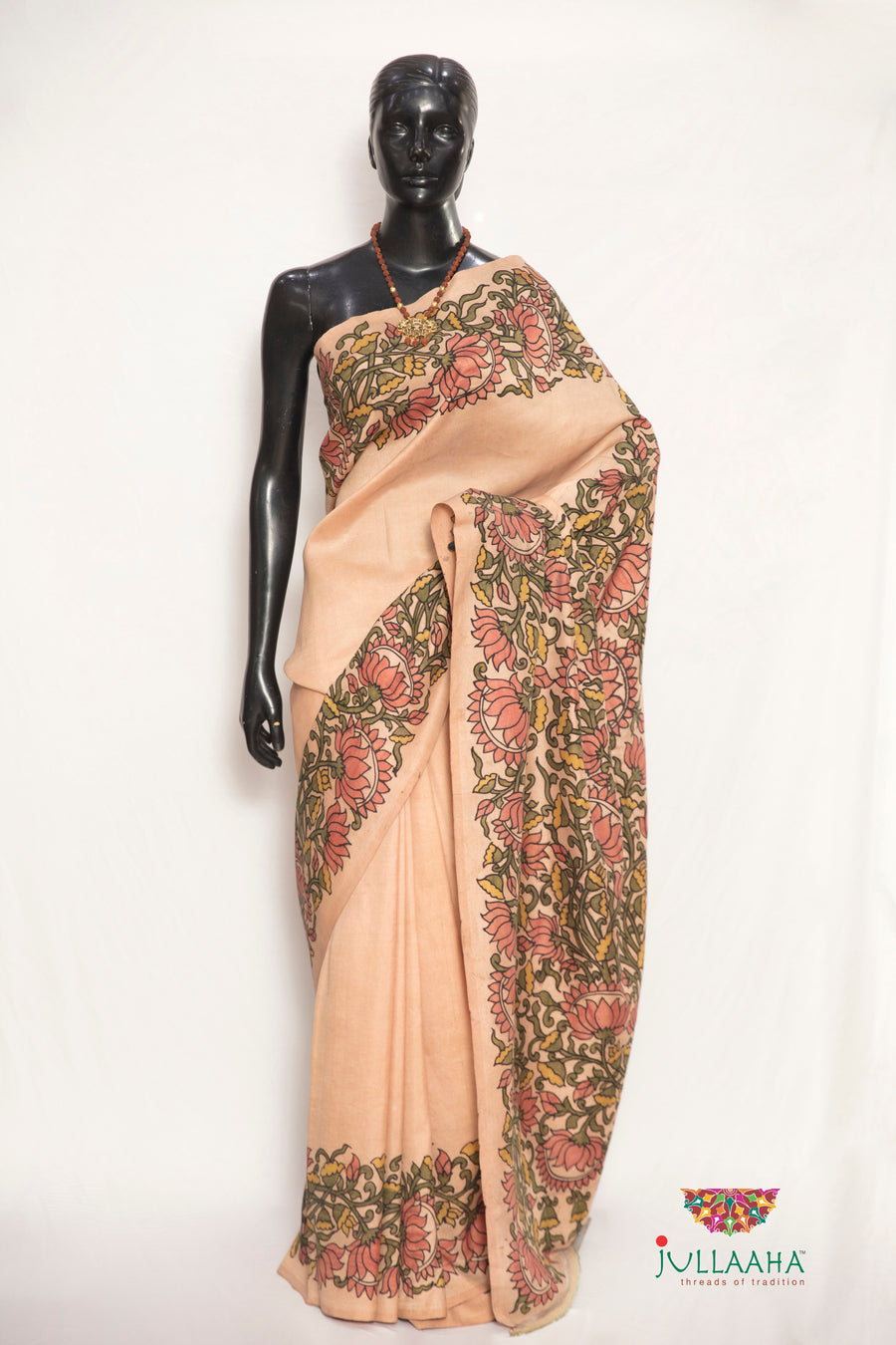 Signature Hand Drawn Kalamkari Saree