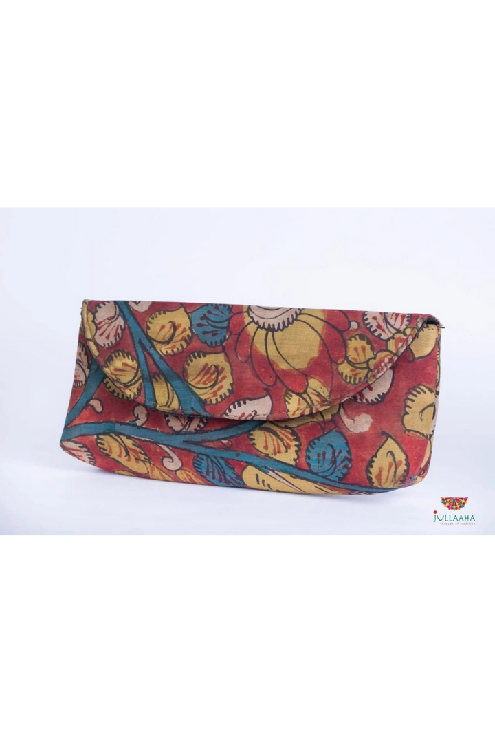 Kalamkari Clutch - Multicolor Floral