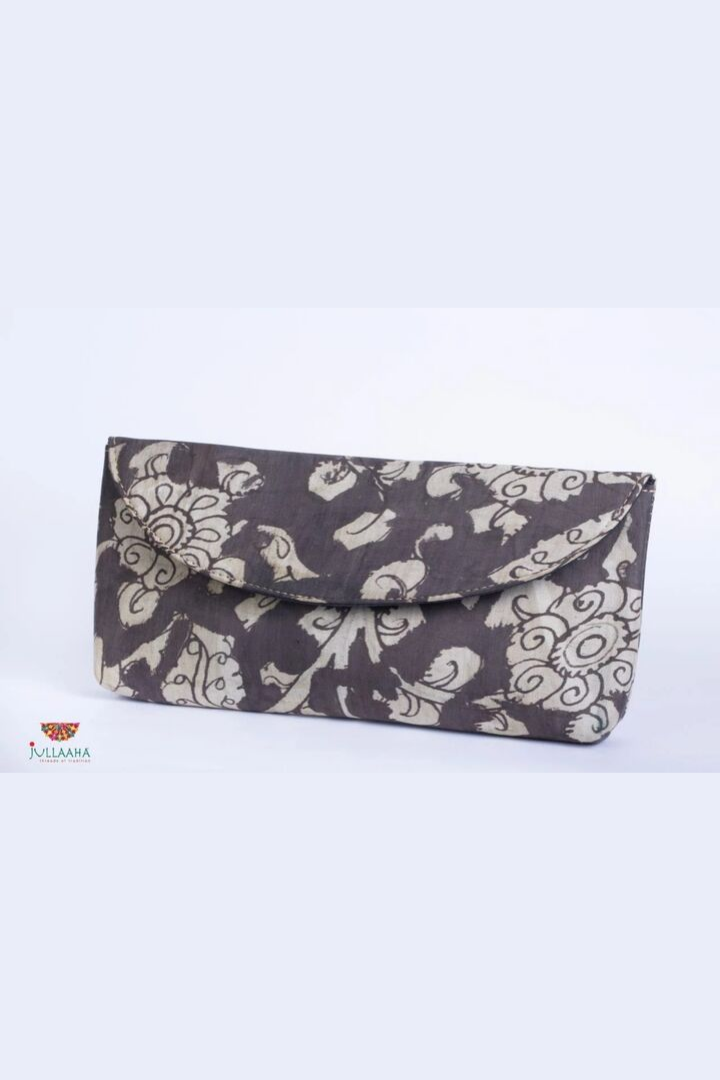 Kalamkari Clutch - Dark Grey