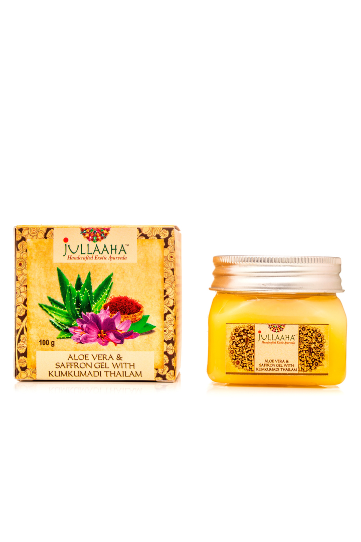 Jullaaha Aloe Vera and Saffron Gel with Kumkumadi Thailam