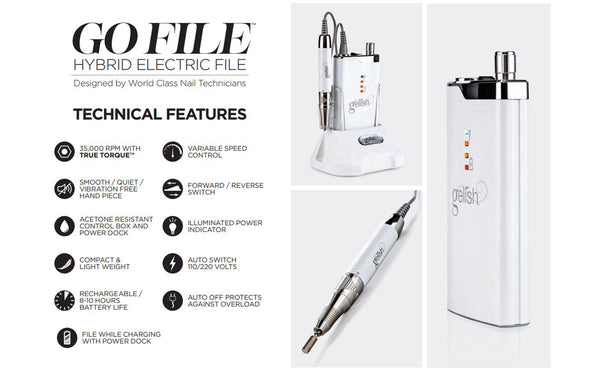 Gelish Go File - Portable Drill Machine