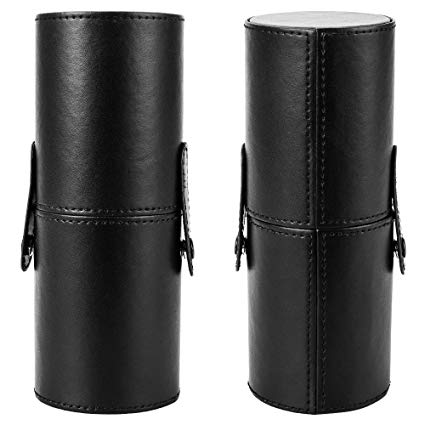 Leather Case Holder Black Empty