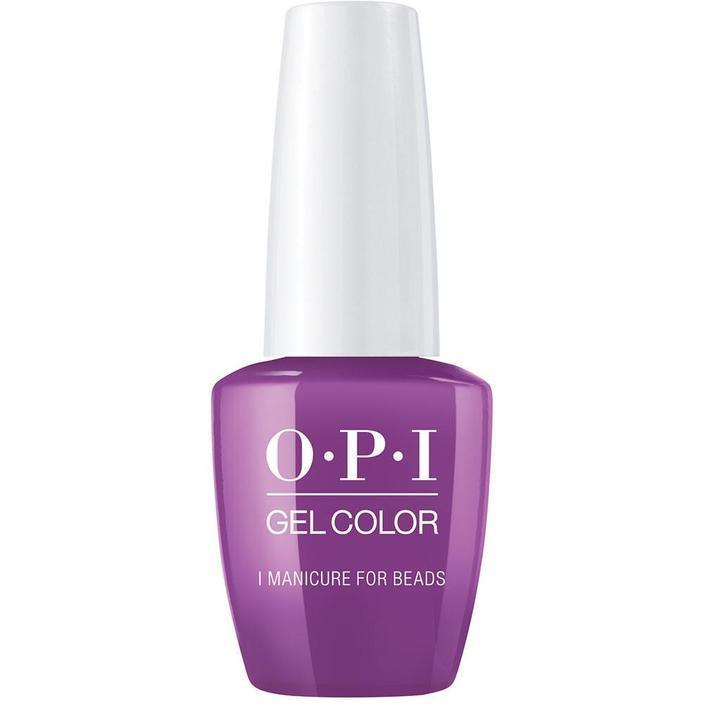 opi gel n54 manicure for beads