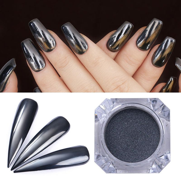 Born Pretty Black Mirror Chrome Powder