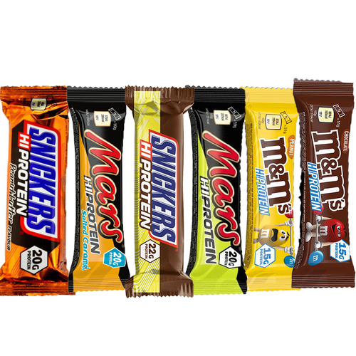 Mars, Snickers & Friends 'Hi-Protein' 6 Pack