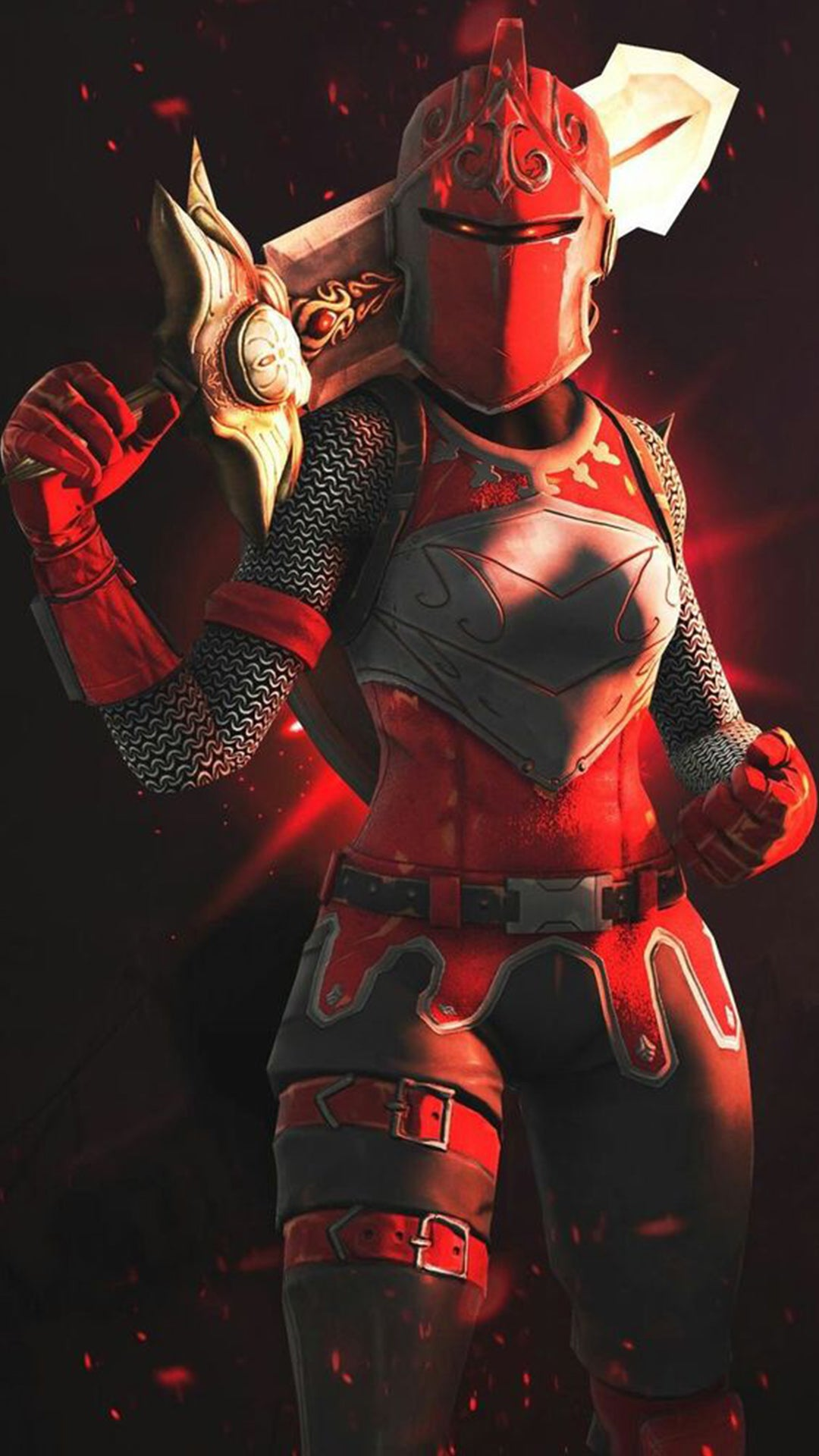 Cool Red Knight Phone Wallpaper Phone 2019 Fortnite