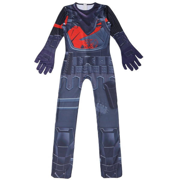 Kids Fortnite Black Knight Costume Jumpsuit With Mask Halloween Costume Party