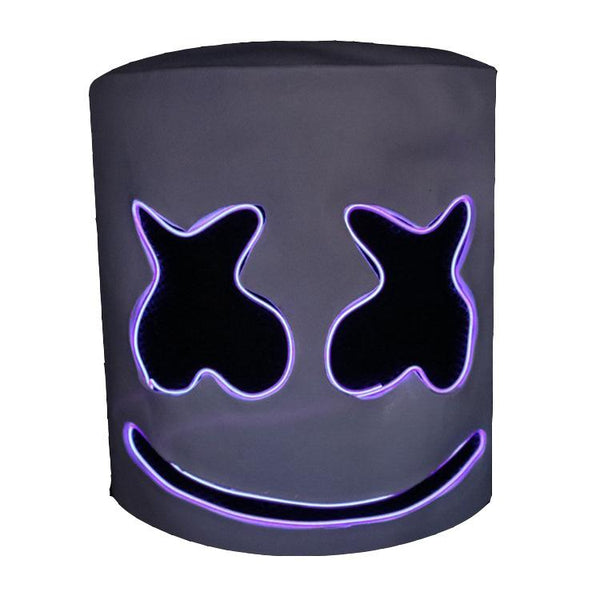 Kids DJ Marshmello Mask Glow In Dark Costume Prop Halloween Party
