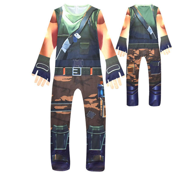 Kids Recon Scout Costume Boys Girls Fortnite Jumpsuit Costume Halloween