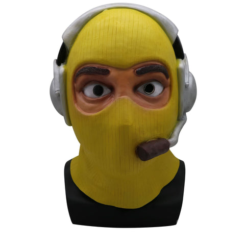 Kids Fortnite Battle Royale Raptor Yeallow Mask Full Face Latex Masks Helmet Halloween Costume Props