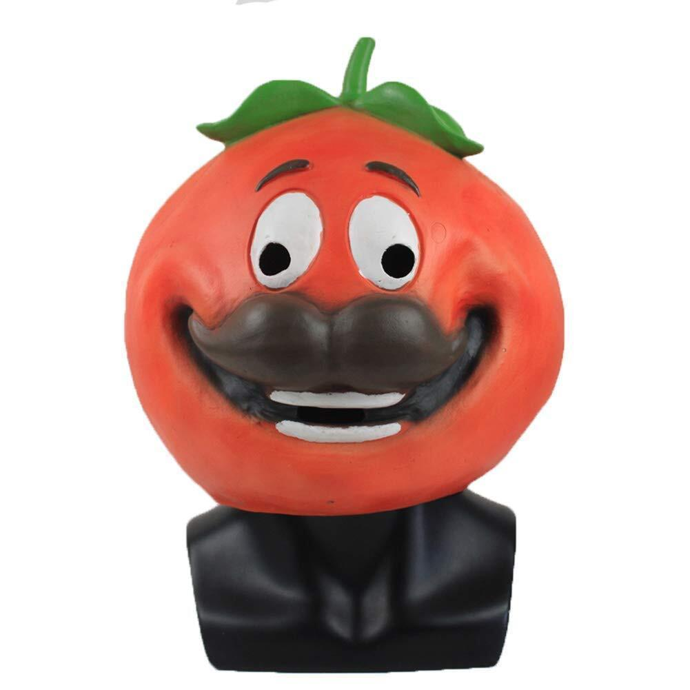Kids Tomatohead Latex Costume Mask Prop Fortnite Battle Royale Halloween Party Supplies