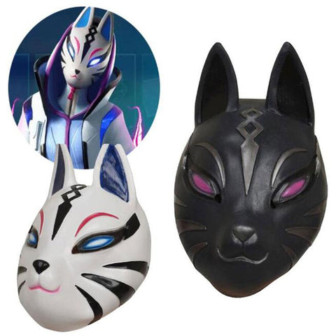 2019 Kids Catalyst Mask Fortnite Catalyst Black White Latex Mask Cosplay Props