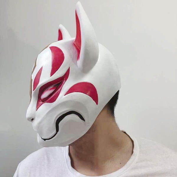 Kids Drift Fortnite Latex Mask Costume Prop Halloween Party