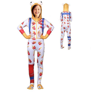 Kids Durr Burger Onesie Costume Fortnite Hooded Jumpsuit Halloween Costume Party
