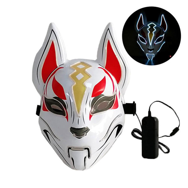 Drift LED Mask Fortnite Halloween Costume Props Glow In Dark