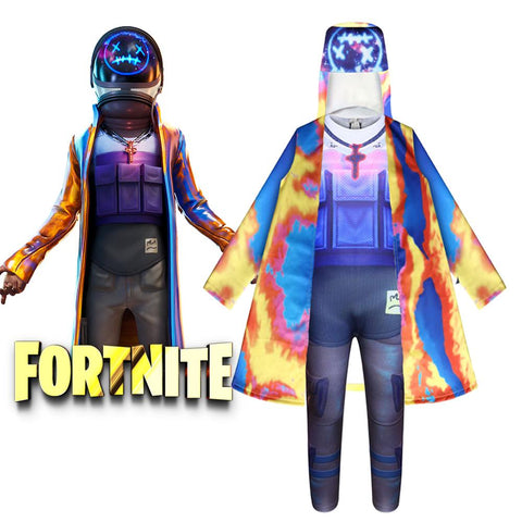 Fortnite Astro Jack Travis Scott Costume Jumpsuit Set for Kids Halloween Supplies