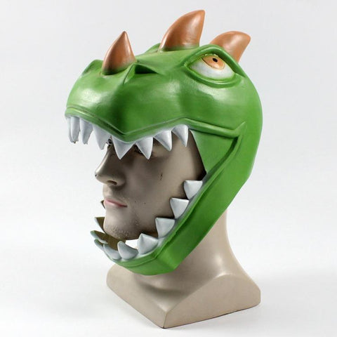 Fortnite Rex Dinosaur Latex Mask Costume Prop Halloween Party