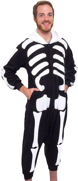 Kids Fortnite Skull Trooper Pajamas One Piece Cosplay Costume