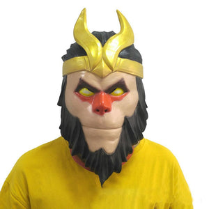 Fortnite Wukong Latex Mask Costume Prop Halloween Party