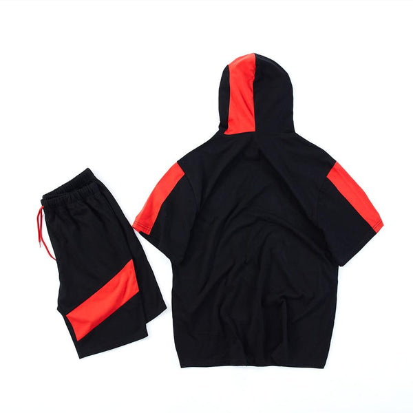 2019 Kids Fortnite ikonik Costume Sports Pullover Hoodie and Shorts Set