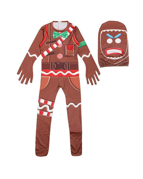 Kids Gingerbread Man Fortnite The Merry Marauder Costume Halloween