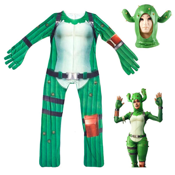 Kids Prickly Patroller Costume Fortnite Jumpsuit Halloween Costume with Mask