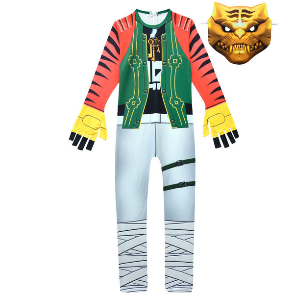 Kids Master Key Costume Fortnite Jumpsuit With Mask Halloween Costume Party
