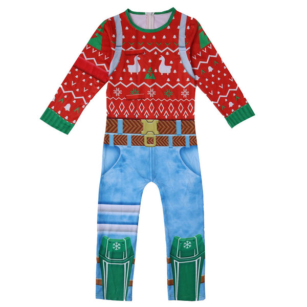 Kids Yuletide Ranger Costume Fortnite Jumpsuit Halloween Costume Party