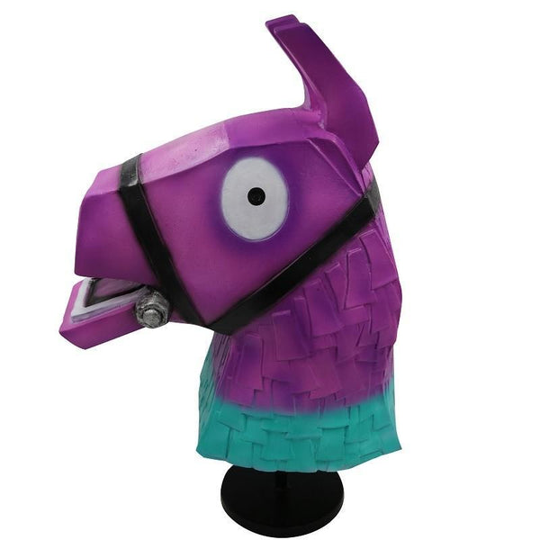 Kids Llama Purple Latex Mask Fortnite Battle Royale Halloween Costume Party Prop