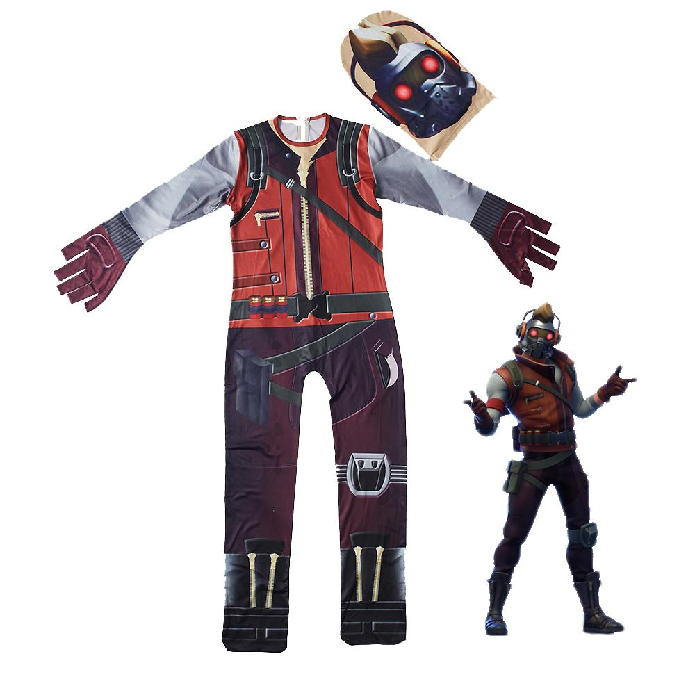 Kids Star Lord Costume Fortnite End Game Costume with Mask Prop Costume Party
