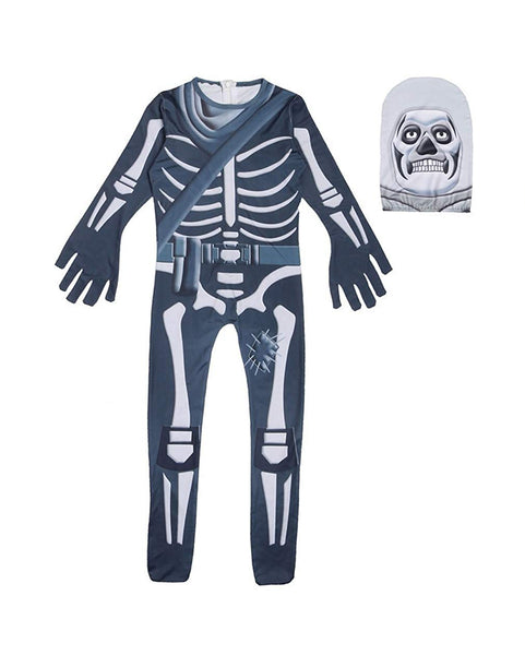 Kids Skull Trooper Fortnite Halloween Costume Party