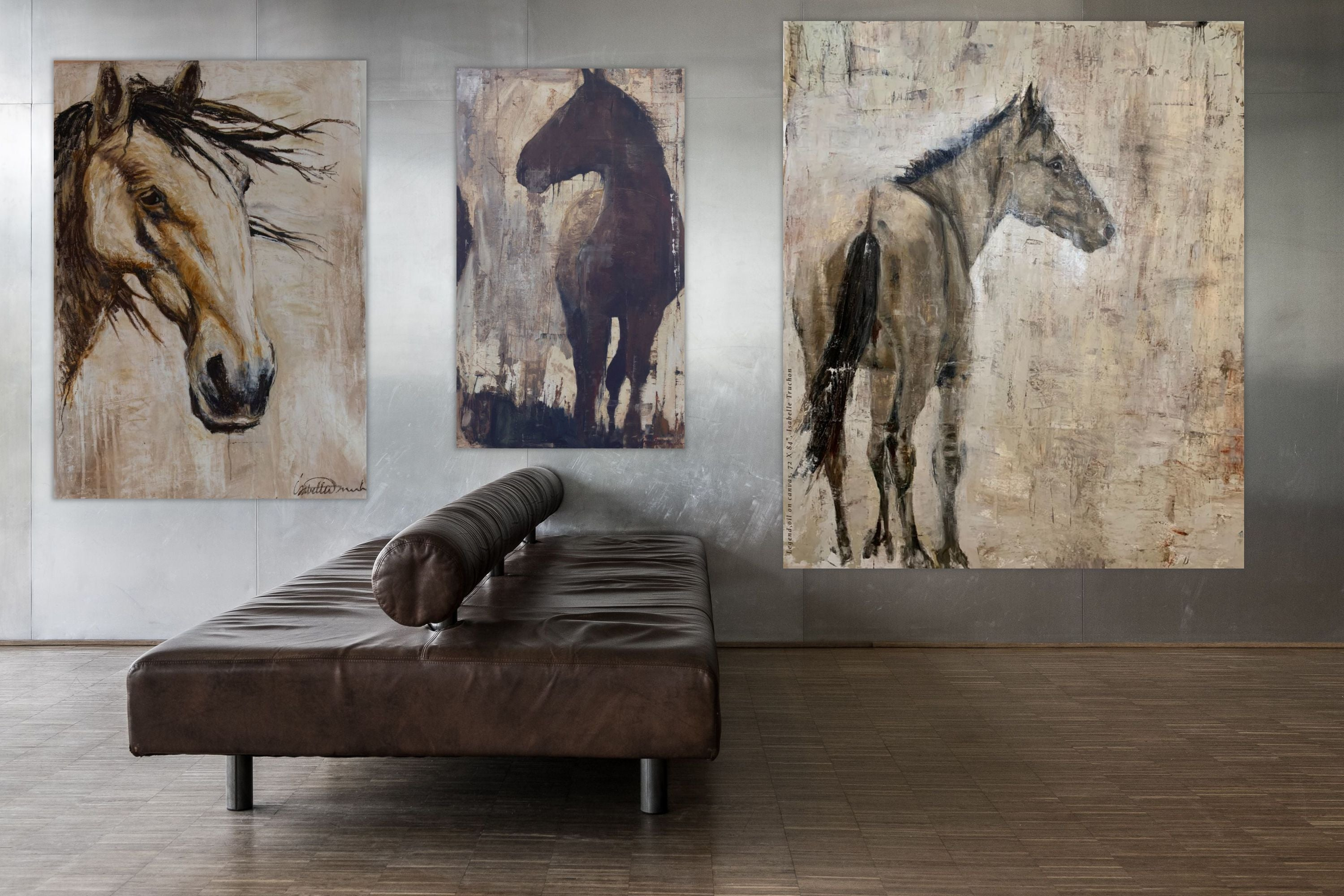 A moment of reflection for this wild mustang stallion. Or perhaps, he simply allows me to observe him, as he looks on at his herd nearby. A showpiece for any wall in your home or office.