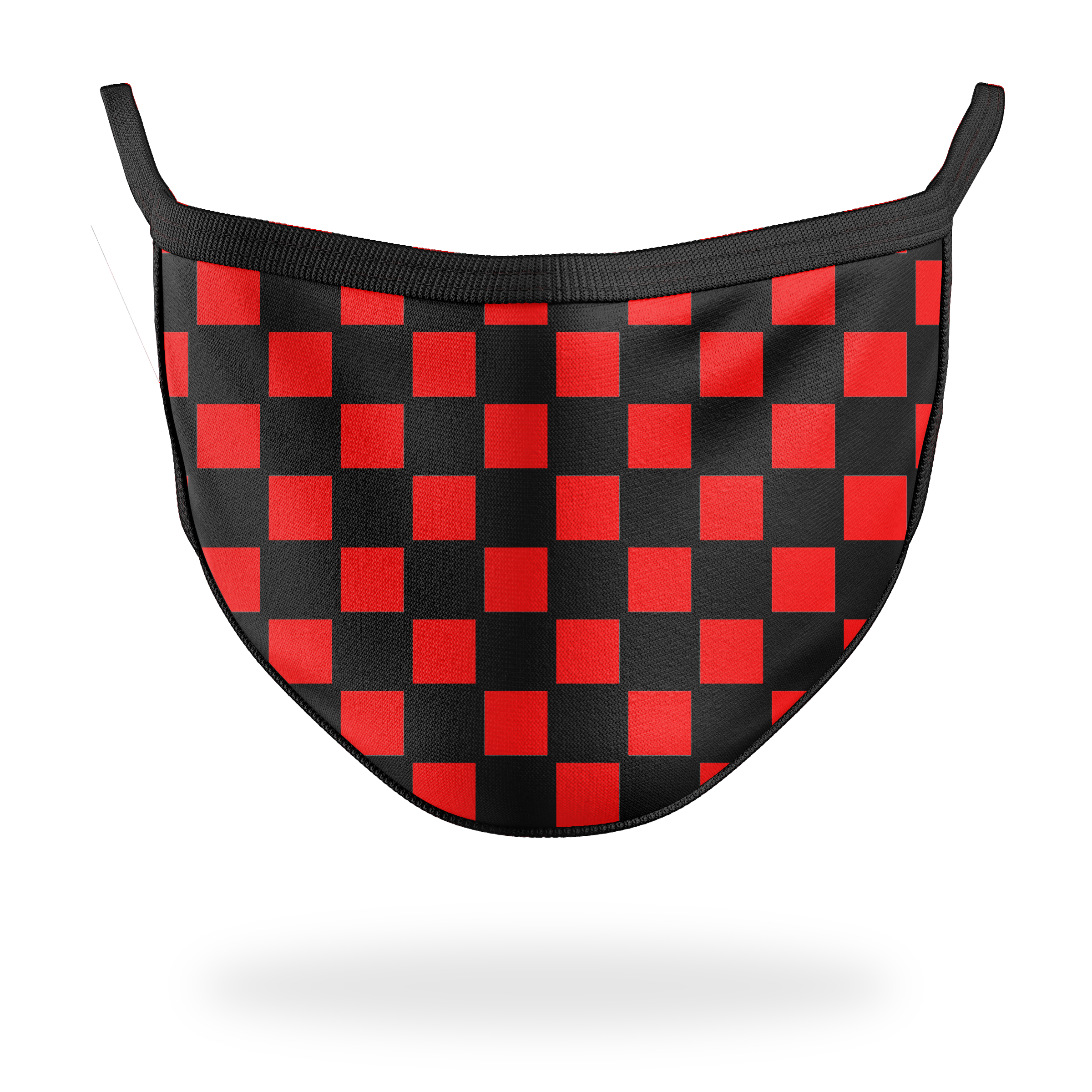 MCM- Checkerboard Red Mask