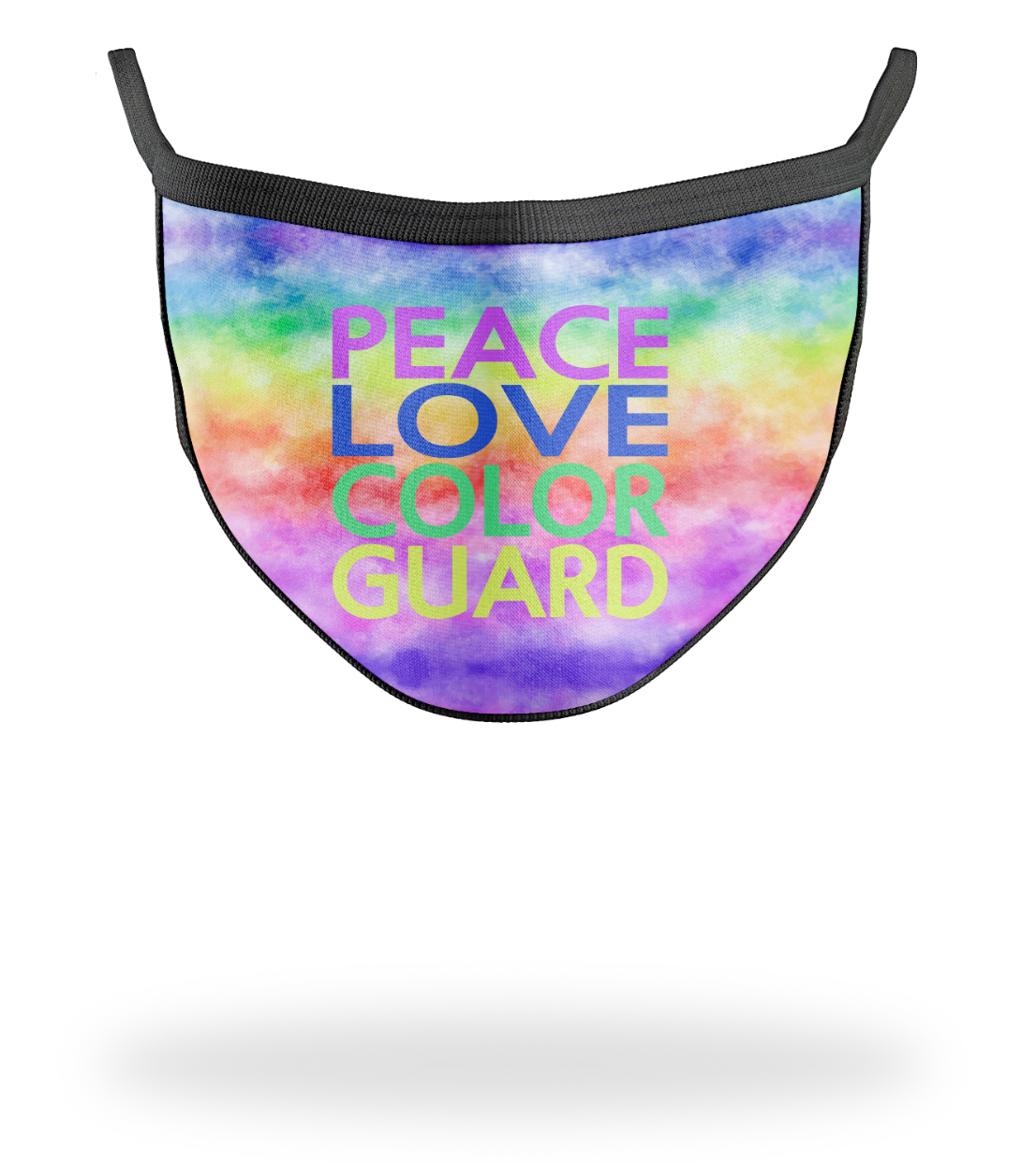 Peace Love Color Guard Mask