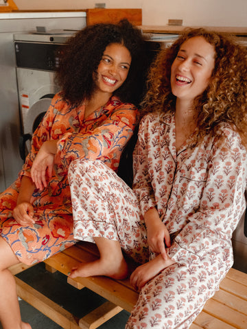 Block printed pyjama sets- perfect pinks