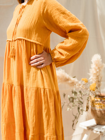The 'Rosa' dress-turmeric