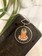 Hand painted Indian pendant- Little Buddha