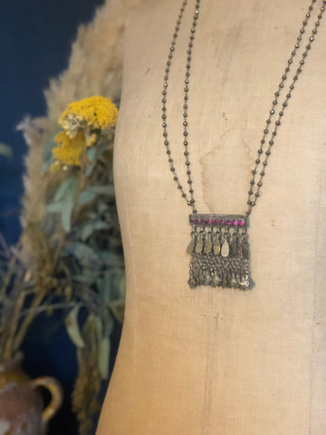 Vintage Indian charm necklace