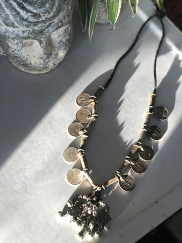 Vintage Indian coin necklace
