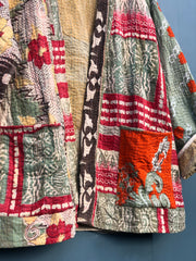Kantha short robe -  large