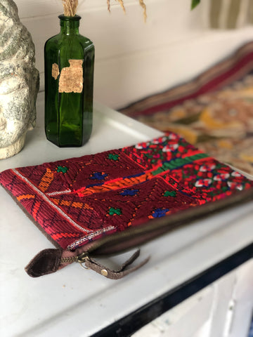 Indian embroidered clutch/pouch bag