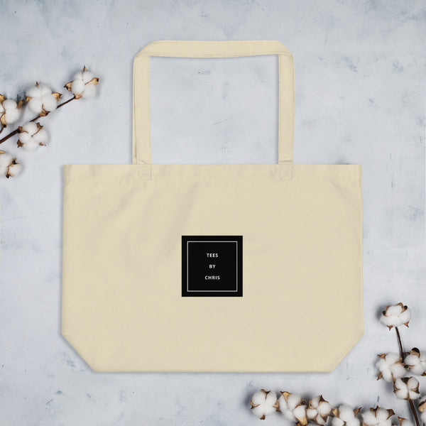 TEES BY CHRIS Large organic tote bag
