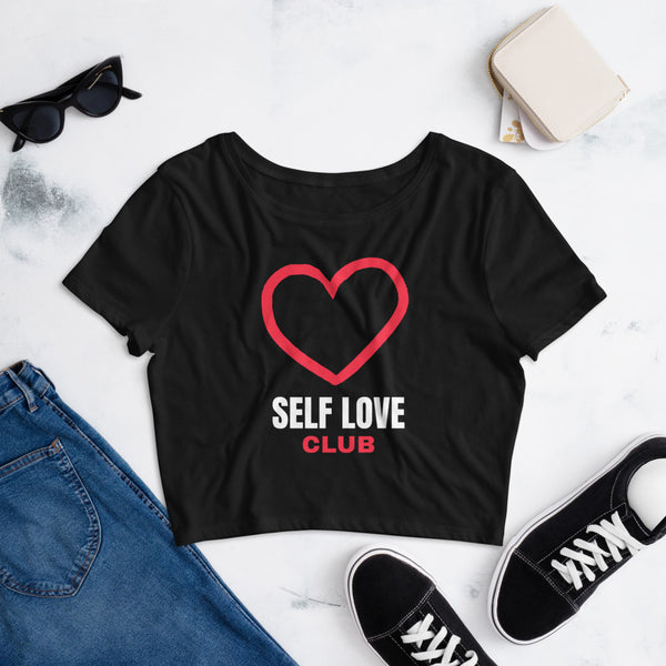 SELF LOVE CLUB Women's Crop Tee