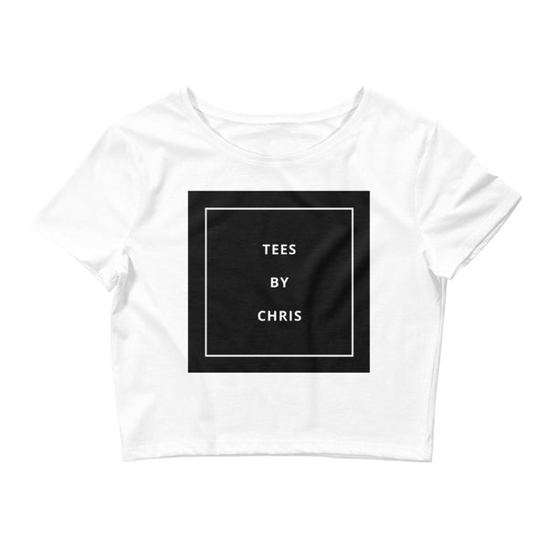 TEES BY CHRIS MONOCHROME Women's Crop Tee