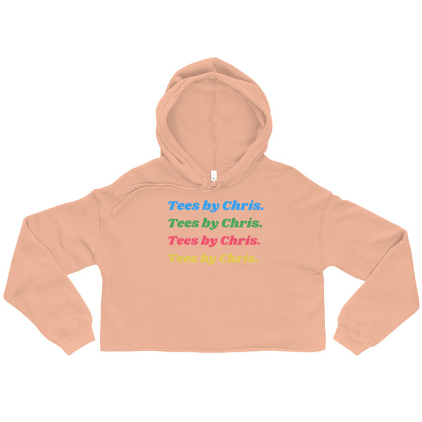 TEES BY CHRIS RAINBOW Crop Hoodie