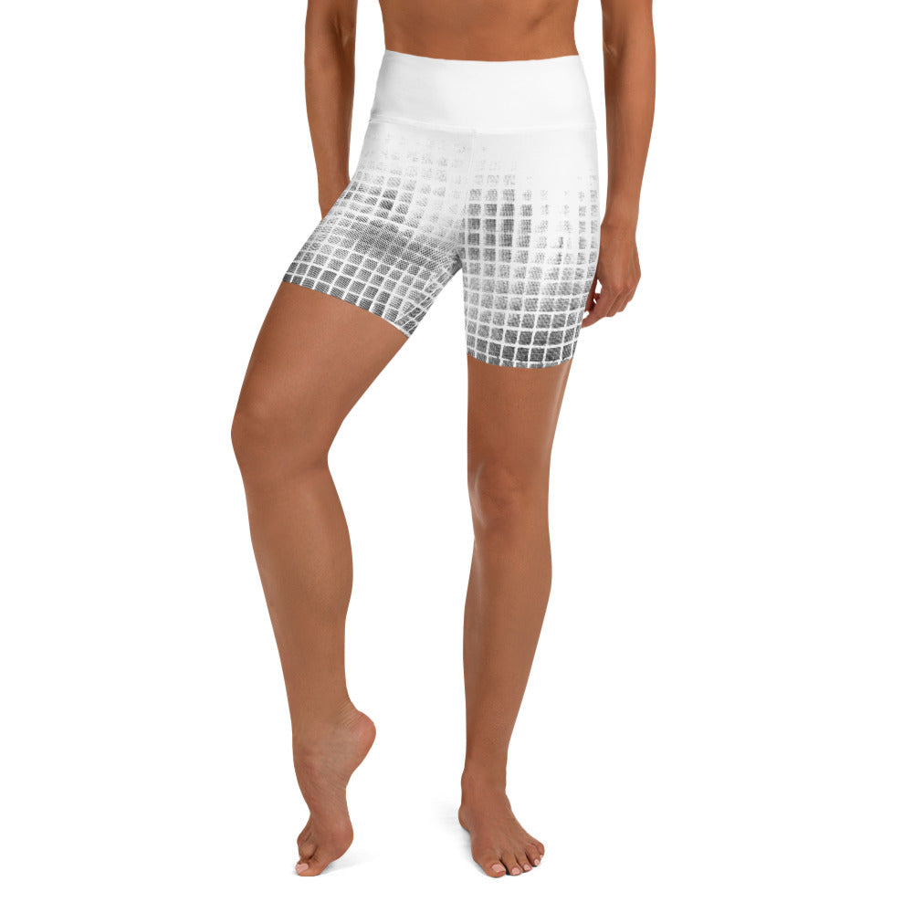 Grid Yoga Shorts
