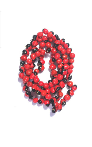 Rakt Gunja Safed Lala Mala (Red) - Vastu Miracles