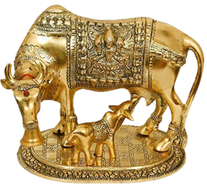 Kamdhenu Cow with Calf - Vastu Miracles