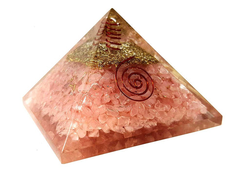 Rose Quartz Orgone Pyramid - Vastu Miracles