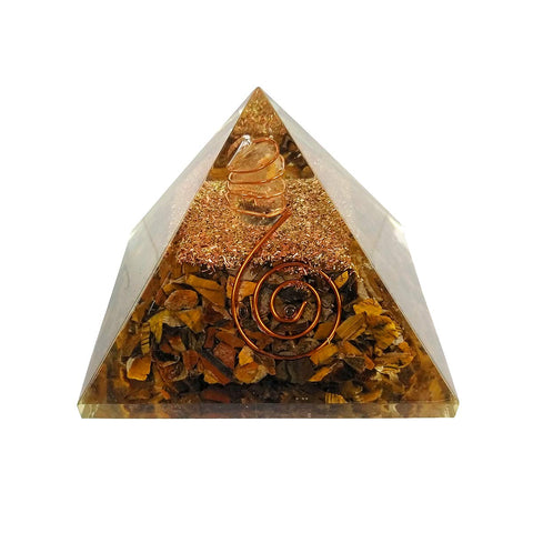 Tiger Eye Orgone Pyramid - Vastu Miracles